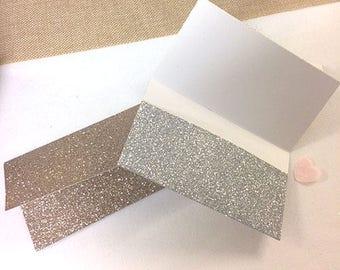 Glitter scratch card holders pack of 5