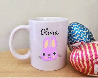 Easter mug with name cute easter gifts for kids childrens easter mug with name cute easter gifts for nieces childrens easter gift for kids unique mugs negle Images