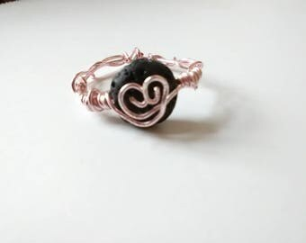 Pink Heart Diffuser Ring