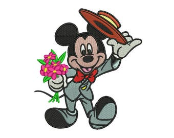 Mickey Embroidery Design #6 - 4 SIZES