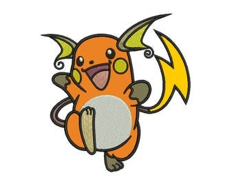 Raichu Applique Design - 4 SIZES