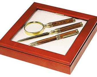 Pen and Pencil Set with matching Magnifier