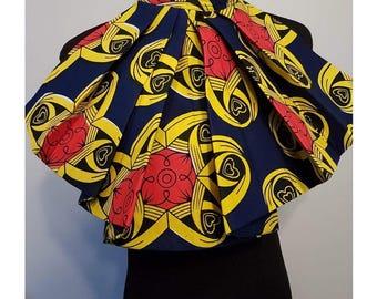 Tie necklace ornament Ankara, African print fabrics