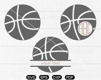 Basketball Svg, Basketball Clipart, Monogram Frame cricut, cameo, silhouette cut files commercial & personal use