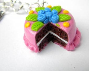 Pink cake handbag