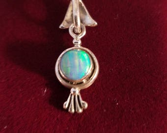 OPAL 925 Silver pendant on a silver chain