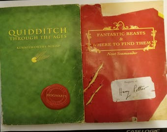 Magical Beasts and Where to Find Them & Qudditch Through the Ages.  FIRST EDITIONS!