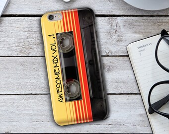 Awesome Mix Phone Case,Awesome Mix vol 1 iPhone Case,Awesome Mix Cassette,Awesome Mix iPhone 7 Case,iPhone 7 Plus Case,iPhone 6 Case