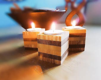Bespoke Hardwood Tea Light Holders
