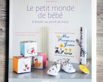 NEW - Book the little world baby embroidery cross stitch