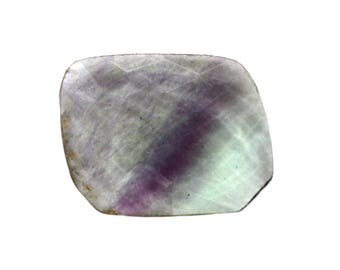 Fluorite Natural Striped Fluorite Both Side Faceted Checker cut Gemstone 9.50 cts 14x18 mm For Designer Jewelry 3980