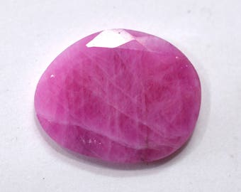 Sapphire Natural Pink Sapphire Faceted Rose Cut Polki 8.80 cts. 15.5x19 mm Loose Gemstone For Designer Jewelry 4139