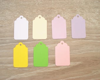 10 blank labels - choose your size and color
