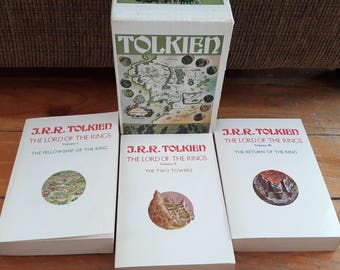 The Lord of the Rings - Boxed Set - J R R Tolkien- Ballantine Trade Paperback First Printing, Special Edition 1970
