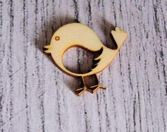 little bird 1181 embellishment wooden creations