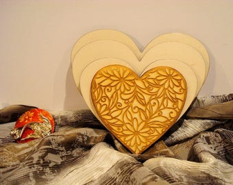 4 hearts 1937 embellishment wooden creations