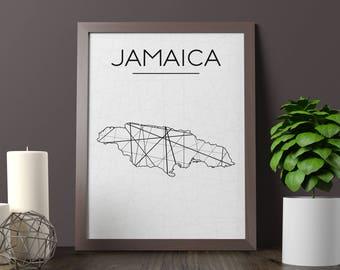 Jamaica Map, Jamaica Wall Art, Jamaica Art, Jamaica Poster, Jamaica Room Decor, Jamaica Print, Jamaica Printable, Instant Download
