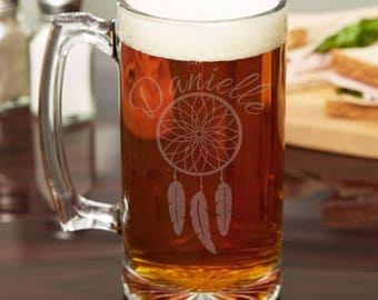 Personalized Beer Stein, Personalized Beer Mug, Customized Beer Mug, Etched Glass Beer Mug, Etched Glass Stein, Personalized Barware, Custom