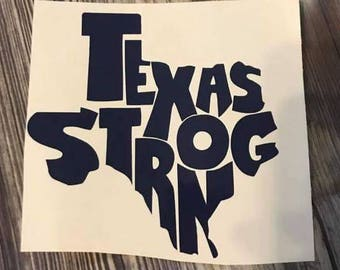 Texas Strong Decal