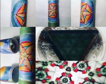 Handmade kaleidoscope, 20 cm mandalar