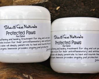 Protected Paws Pad Salve - 4 oz - Natural Pet Care, Paw Salve for Dogs and Cats, Pad Softening, Pad Protection, Natural Products