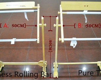New Adjustable Cross stitch/Embroidery/Tapestry Stainless Roller Bar Frame54cm