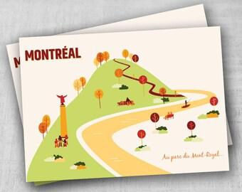 Postcard - Montreal's city illustration