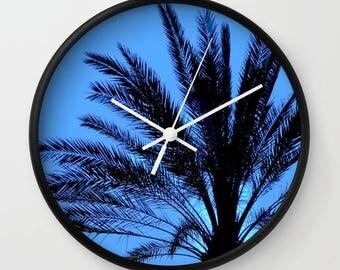 Palm Tree Print Clock, Palm Tree Decor, Palm tree Gift