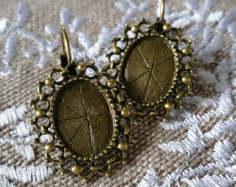 Supports Bronze Leverback Earrings