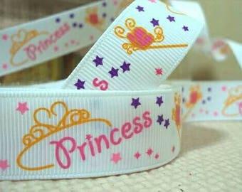 263 - Princess - grosgrain Ribbon - 22 mm sold by 50 CM - Princess ribbon