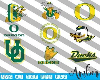 Oregon Ducks SVG, Eps Ai Dxf Png Monogran Silhouete Cricut Clipart Decal