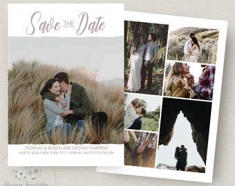 Save The Date Template, Save The Date Instant Download, Save The Date Card, Printable Save The Date, Wedding Announcement, PSD Template