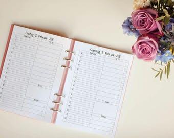 """Calendar deposit """"Sugar Snow"""" A5 m. recipe 1T/1s Filofax Kikki k"""