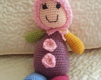 crocheted in multicolor yarn baby blanket