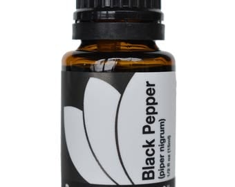 Organic Black Pepper Essential Oil 5ml, 15ml, or Buy Both & Save!