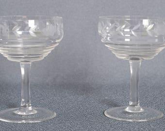 vntage crystal glasses
