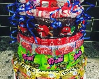 Large Custom Candy Cake