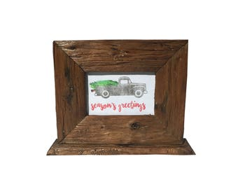 4x6 Holiday Barnwood Frame with Stand