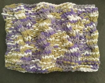 Hand knitted Cable Knit Cowl
