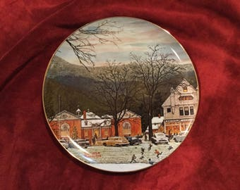 "Norman Rockwell ""Stockbridge in Winter part 2""  curator plate #3624  10 inch collectors plate"