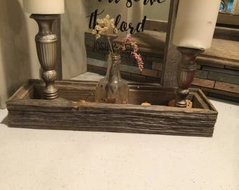Rustic Reclaimed barnwood box|center piece|decorative box|vanity tray