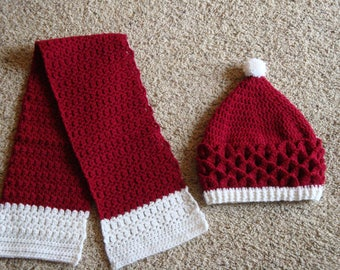 Christmas Hat & Scarf set