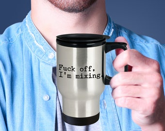 DJ Stainless steel Travel Insulated Tumblers Mug - Funny Sarcastic Unique Perfect Gift for Audio Mixer Engineer Deejay Sound Editor Mixing