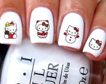 Hello Kitty Christmas Nail Decal