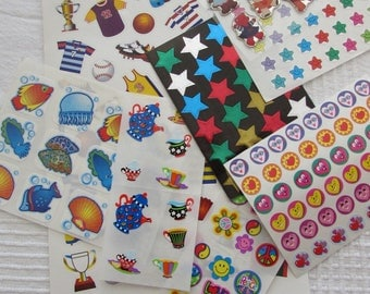 Set of 8 plates d´autocollants or stickers