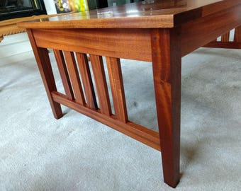 African Mahogany Coffee Table