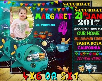 Octonauts birthday party, Octonauts invitation, Octonauts birthday invitation, Octonauts Birthday, Octonauts invite, Octonauts print Card