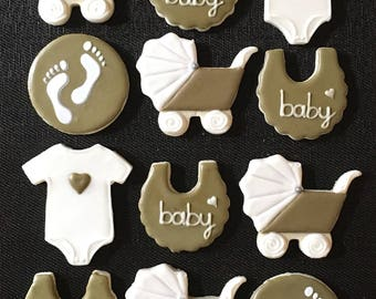 Baby Shower Decorated Cookies - One Dozen