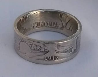 1917 Walking Liberty Coin Ring