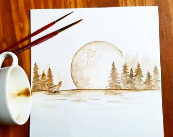 Howling at the Moon Coffee Art